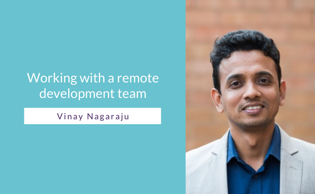 Working with a remote development team